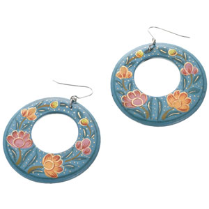 Accessorize - Kashmiri Painted Cut Out Hoop Earrings.jpg