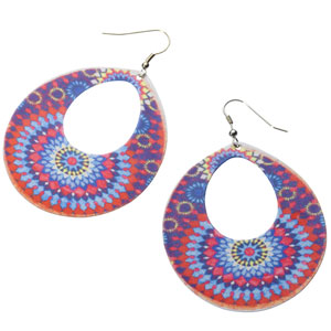 Accessorize - Printed Mosaic Teardrop Earrings.jpg