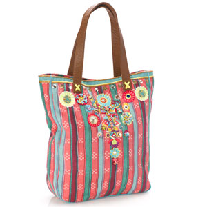 Accessorize - Striped Pyjama Flower Embellished Shopper.jpg