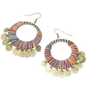 Accessorize - Threaded Cut Out Coin Hoop Earrings.jpg