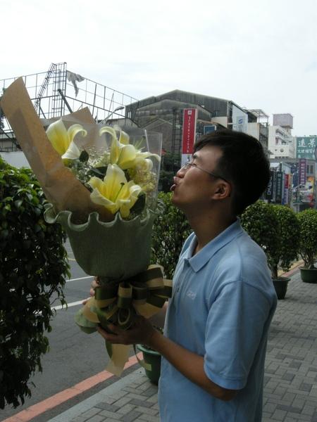 麗卿送的花