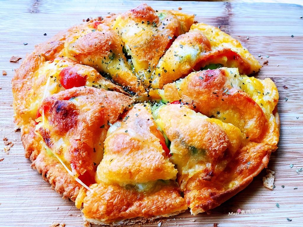 香投咖啡焗烤蔬果披薩