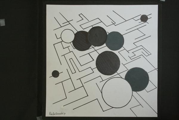 以照片轉換幾何圖形的平面作品