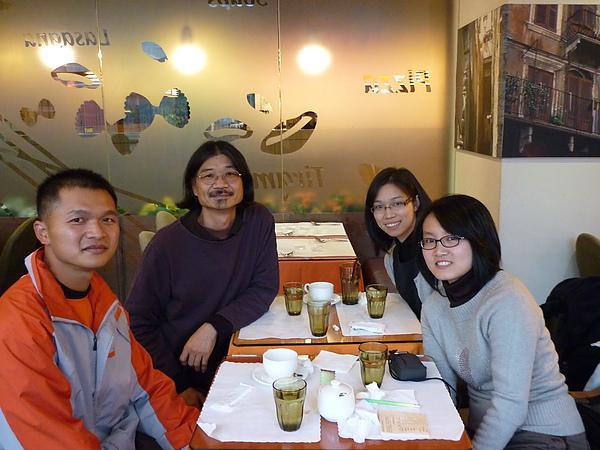 新春前和大學社團老師朋友見面