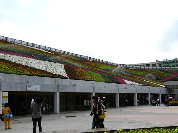 體育場裡設計成環狀