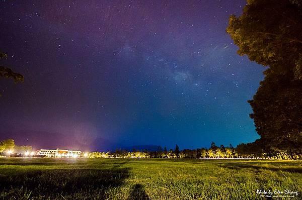 屏科大行政大樓與銀河