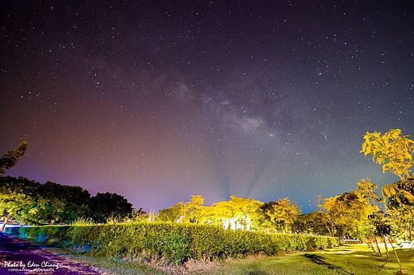屏科大氣象站與銀河