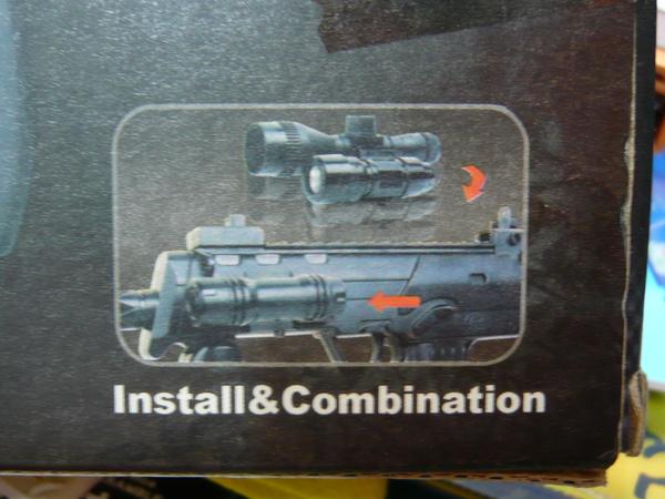 圖示安裝和組合紅外線及反光燈