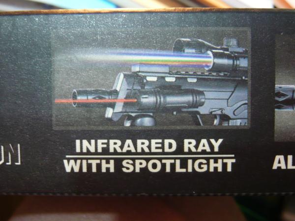 圖示有紅外線及反光燈