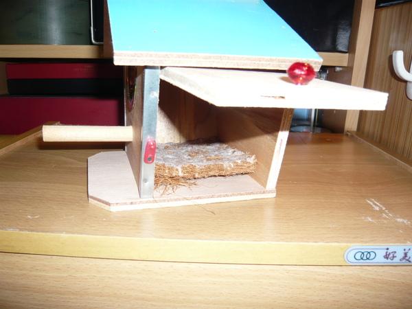 裡面還附贈ㄧ塊軟墊給鳥兒使用