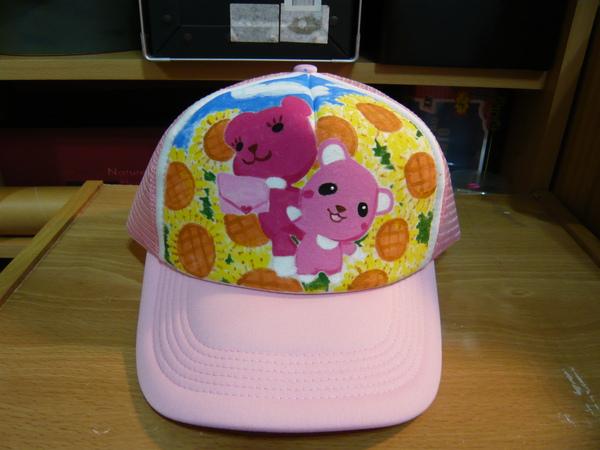 給Leslie的手繪帽子