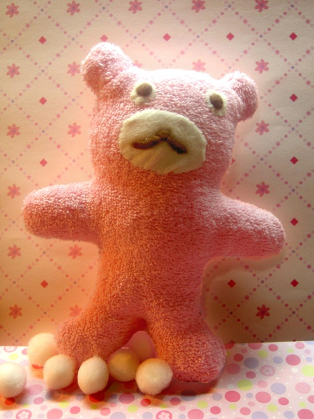粉紅毛巾熊