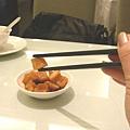 店家招待的醃蘿蔔乾