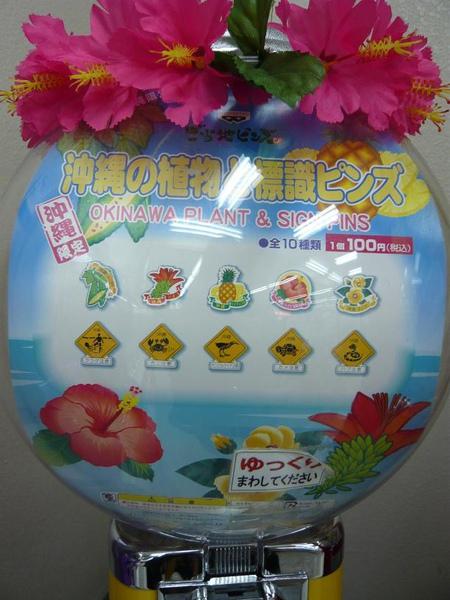 沖繩限定的植物&動物標示扭蛋