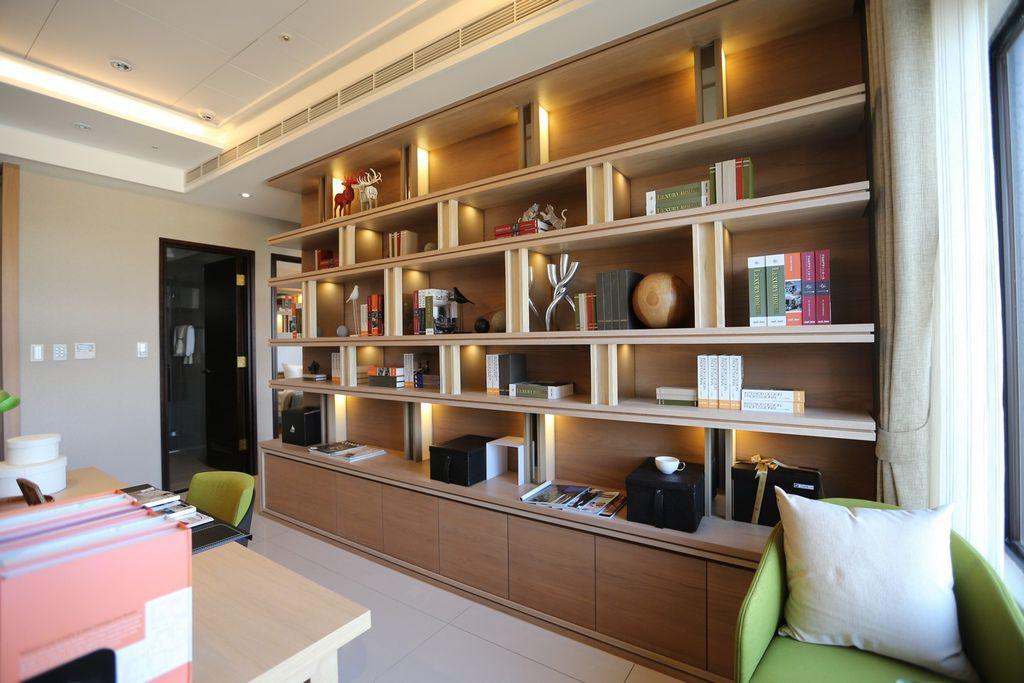 中和左岸/中和建案/紫金園-書房空間實拍