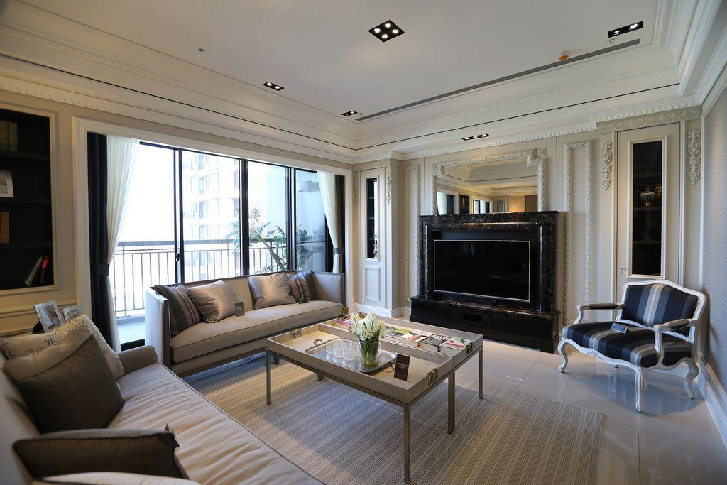 遠雄二代宅,大空間客廳-中和左岸/中和建案-彩虹園