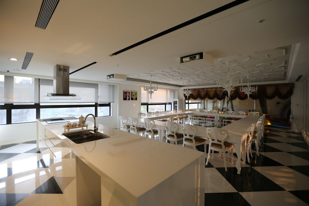 遠雄的二代宅,公共空間,公共空間,烹飪室,社區有獨立烹飪教室-中和左岸/中和建案-玫瑰園