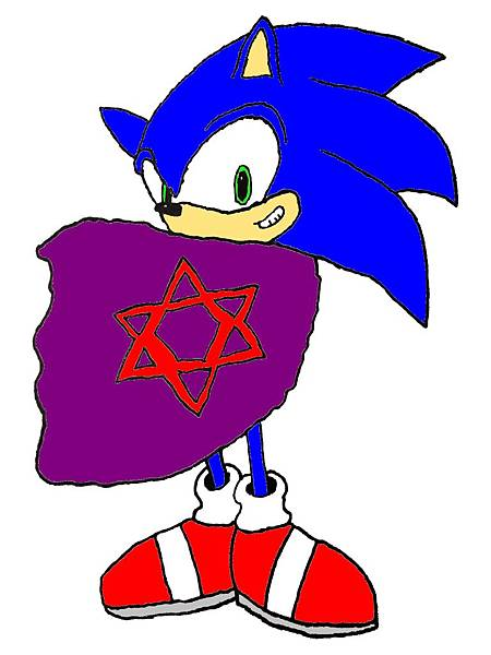 Sonic & 披風(簡單上色)