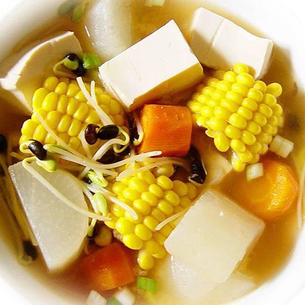 黑豆芽味噌鮮蔬湯