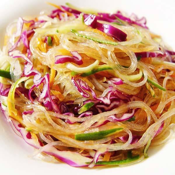涼拌粉絲紫高麗菜