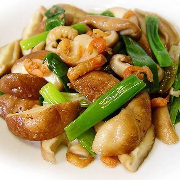 青蔥開陽炒鮮菇