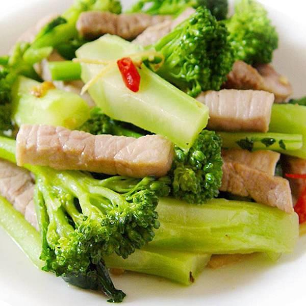 青花筍炒肉絲
