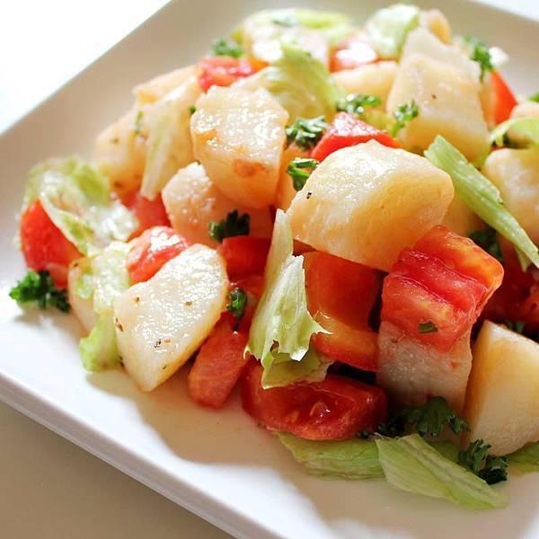 【厚生廚房】爽拌超牛料理! 輕食簡單吃,享瘦去!! 馬鈴薯爽拌番茄生菜