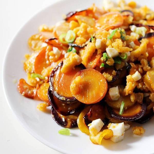 【厚生廚房】創意玩味料理~~金沙三色胡蘿蔔!