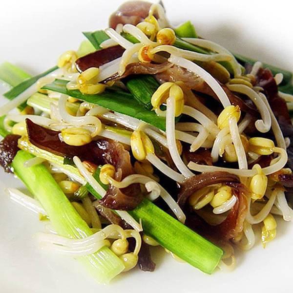 【厚生廚房】餐桌上跳動的音符油香豆芽菜