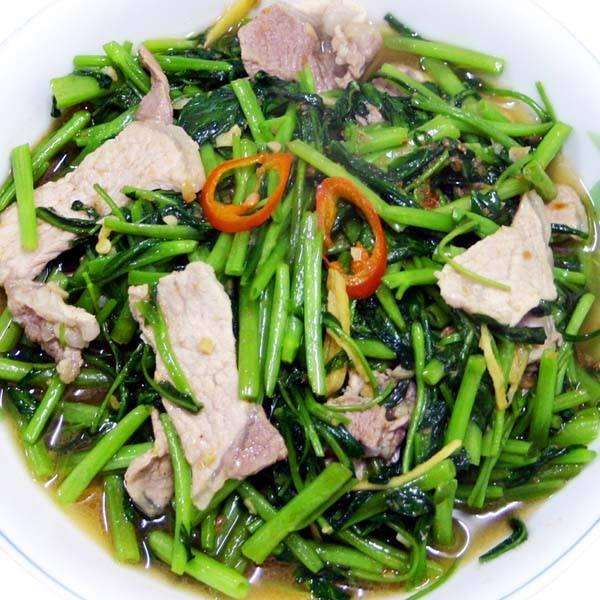 【厚生廚房】大小朋友都愛吃~家常快速好菜!! 肉片炒空心菜
