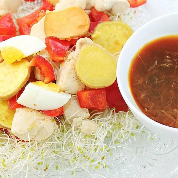 地瓜雞肉溫沙拉