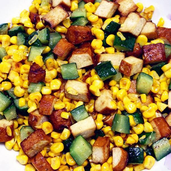 recipe_0001黃瓜玉米炒豆乾(素)
