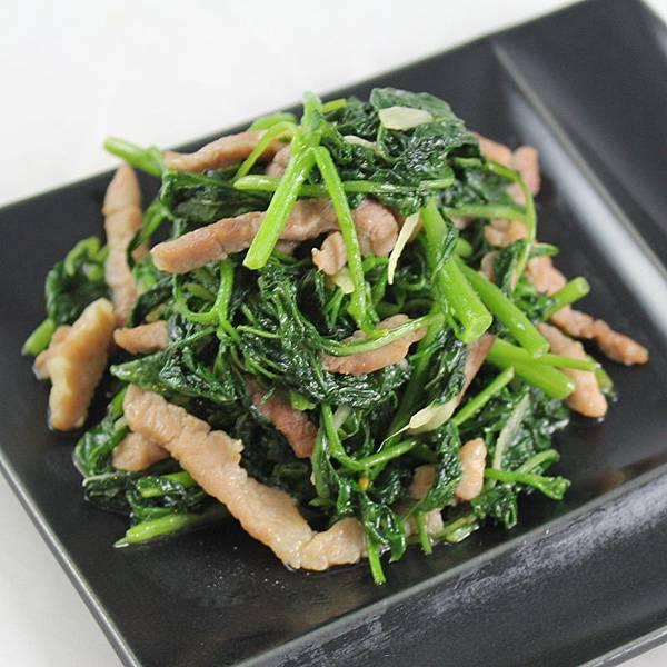 薑絲麻油龍葵炒肉絲-800