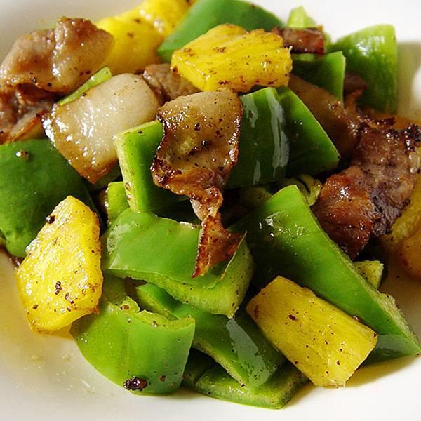 recipe_0339鹹豬肉炒鳳梨青椒