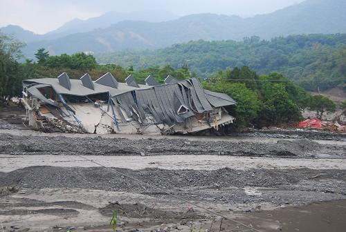 民宅被沖毀