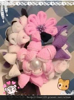 粉紫大花簪