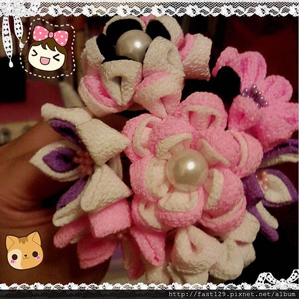 粉紫大花簪2
