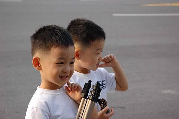 在青瓦台遇到的可愛雙胞胎