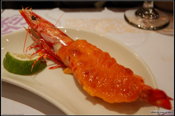 第8道 海膽醬烤明蝦