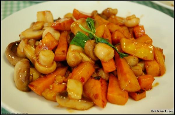 地瓜炒洋菇