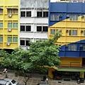 吉隆坡下塌飯店窗外景觀