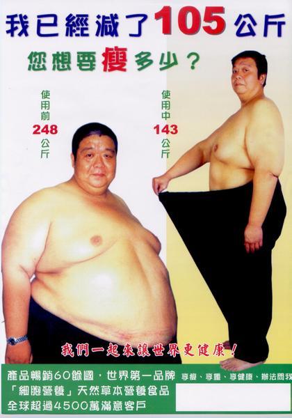 志宏使用前-248公斤減重105公斤
