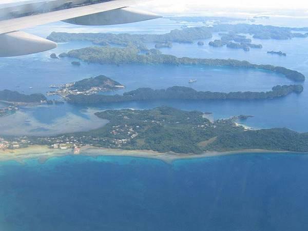 帛琉的空照圖一