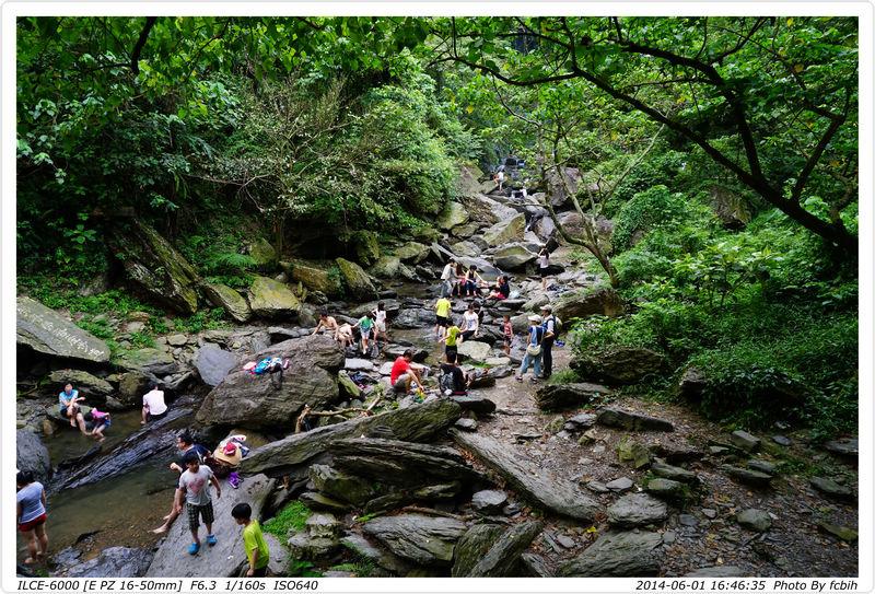 涼山瀑布第二層至第三層中間