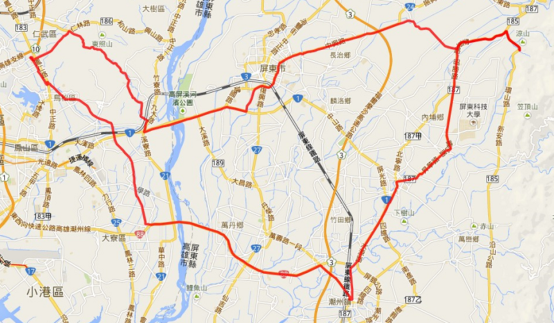 2014.06.01 涼山瀑布-軌跡圖