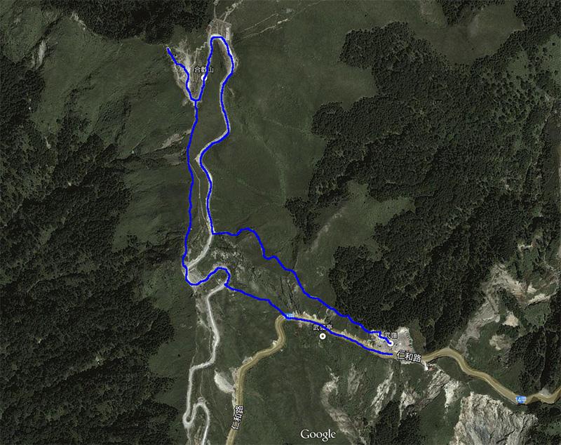 合歡山主峰-路線圖
