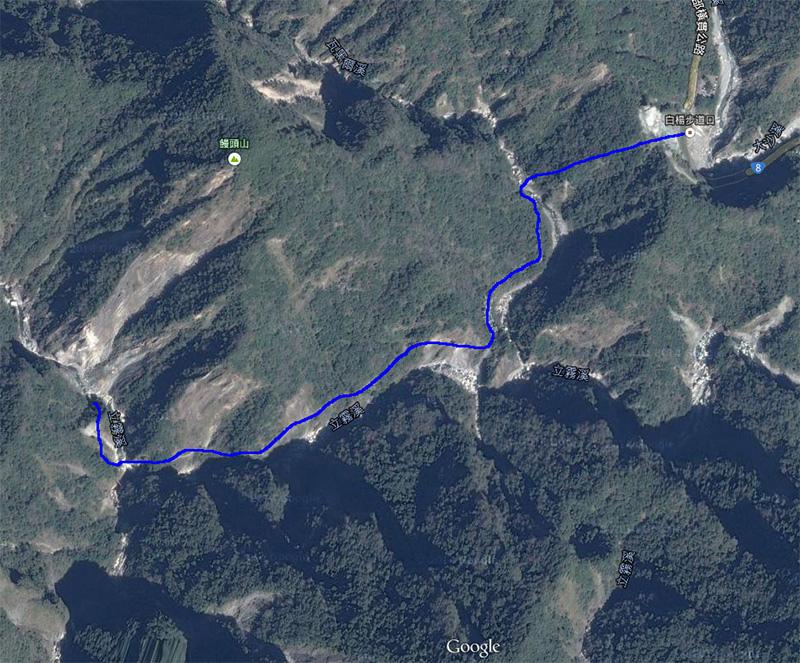 白楊步道-路線圖
