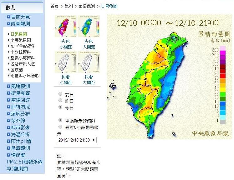 今日雨量圖
