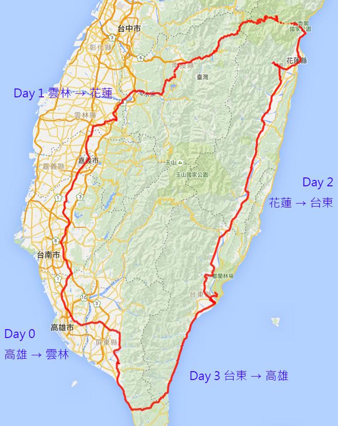 2015.12.10~13 環半島 x 武嶺 軌跡圖