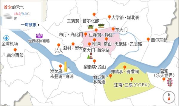 首爾分區地圖